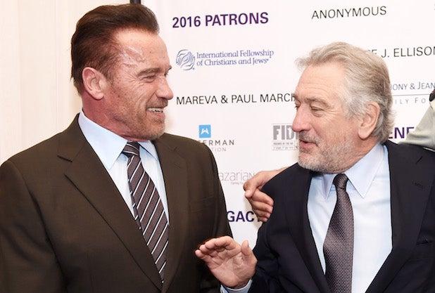 Arnold Scwarzenegger, Rober De Niro