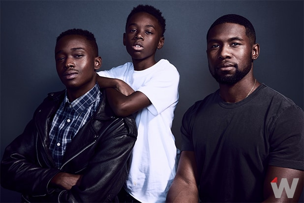 Ashton Sanders, Alex Hibbert and Trevante Rhodes