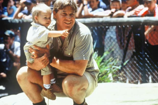 Bindi Irwin with Steve Irwin