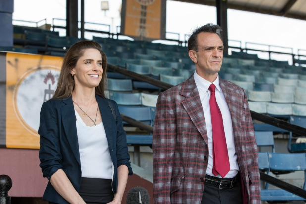 Hank Azaria and Amanda Peet - Photo Credit: Erika Doss/IFC