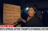 cnn donald trump protestor civil war people have to die