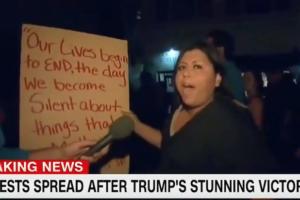 cnn donald trump protestor civil war people have to die
