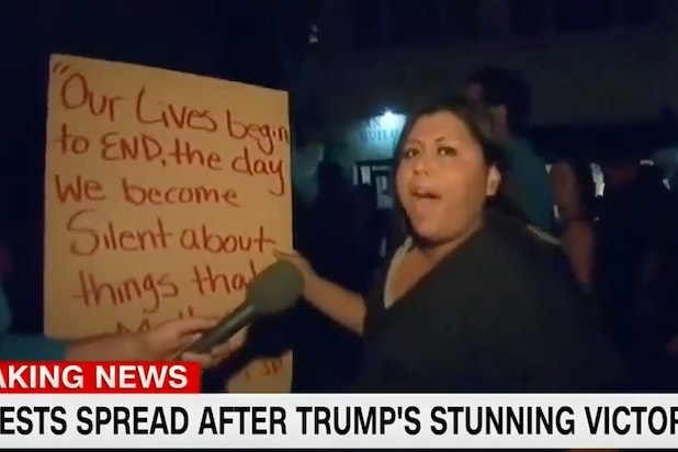 Trump Protester Tells CNN She's Ready for a Civil War: 'People Have to Die' (Video)