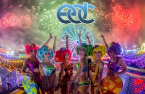 Strolling performers at EDC Las Vegas in June 2016. (Adi Adinayev for Insomniac) Electric Daisy Carnival