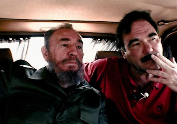 oliver stone and fidel castro in 'comandante'