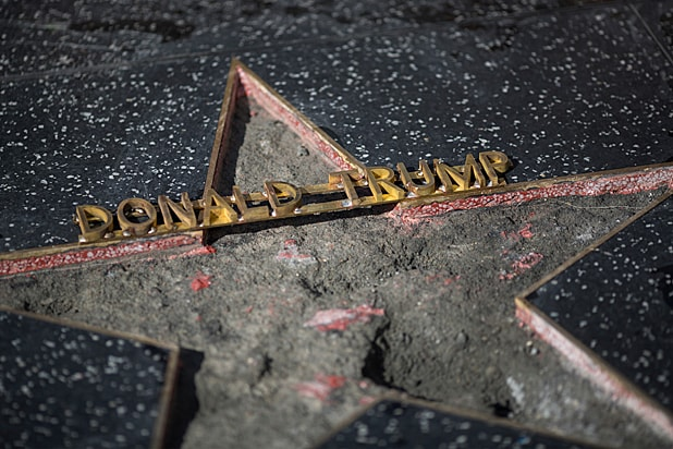 Donald Trump Hollywood Star Destroyed
