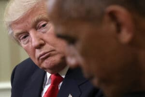 President Obama Meets With Donald Trump In Oval Office Of White House