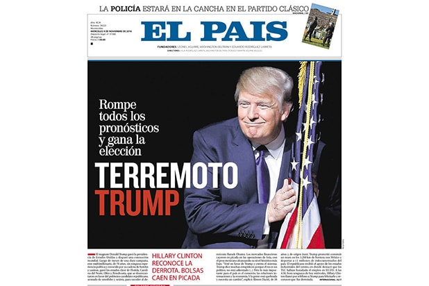Donald Trump newspapers