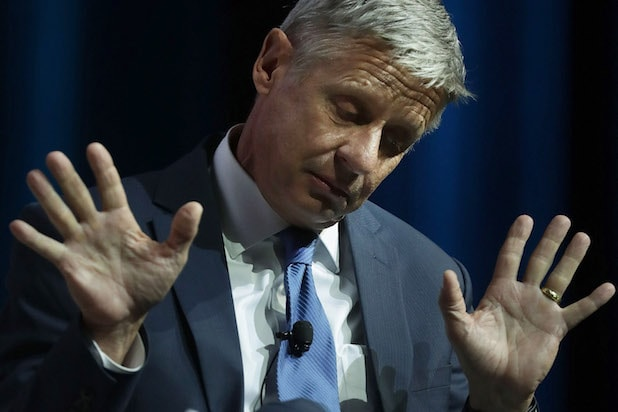 Third Party Presidential Candidate Gary Johnson