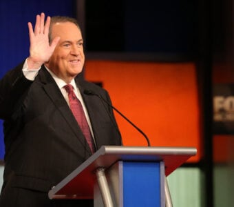 mike huckabee bad at jokes twitter