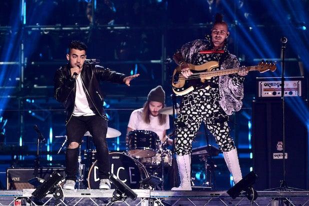 JinJoo Lee, Joe Jonas, Jack Lawless and Cole Whittle MTV EMA's 2016 - Show