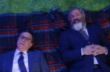 Mel Gibson and Stephen Colbert