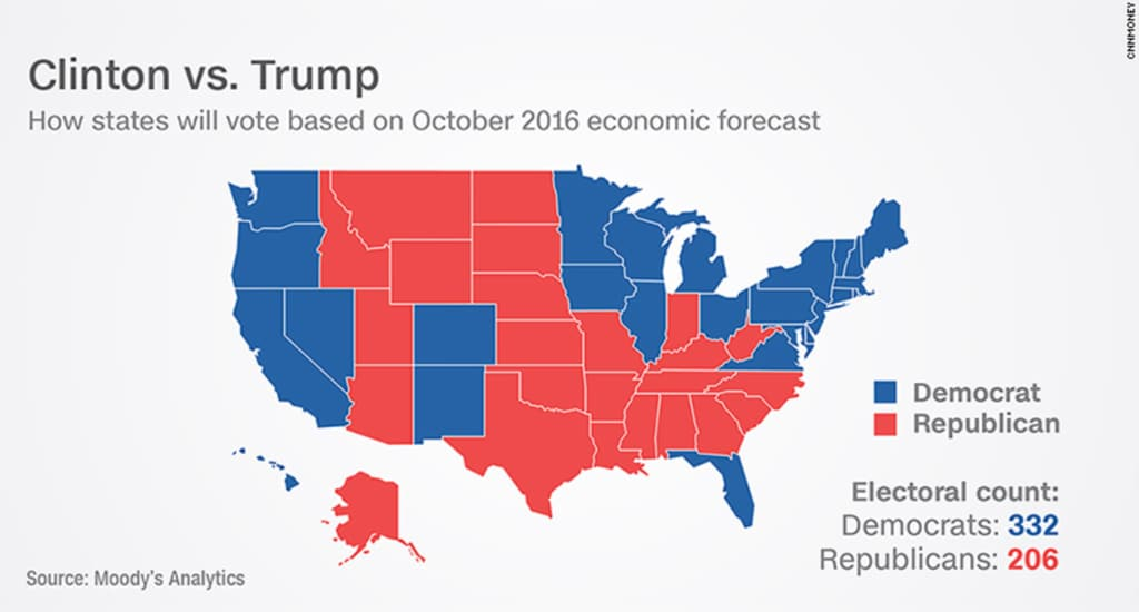 Trump Won States Map.Here S Every Major Poll That Got Donald Trump S Election Win Wrong