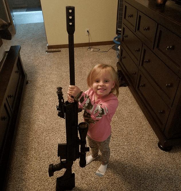 NRA Adalynn Jeremy Calvert gun Teen Mom Leah
