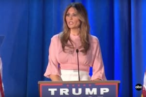 Without a Hint of Irony, Melania Trump Vows to Fight Cyberbullying as First Lady (Video)