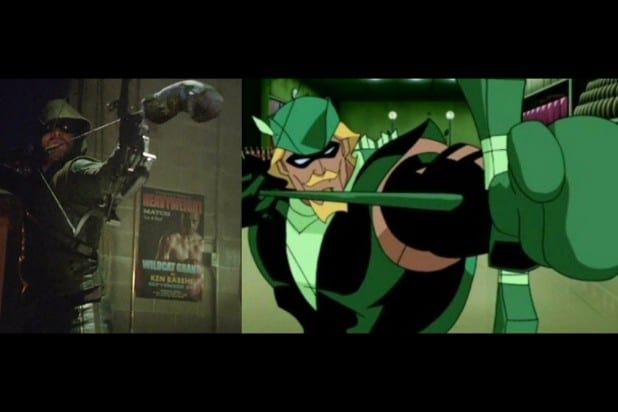 green arrow comic shot