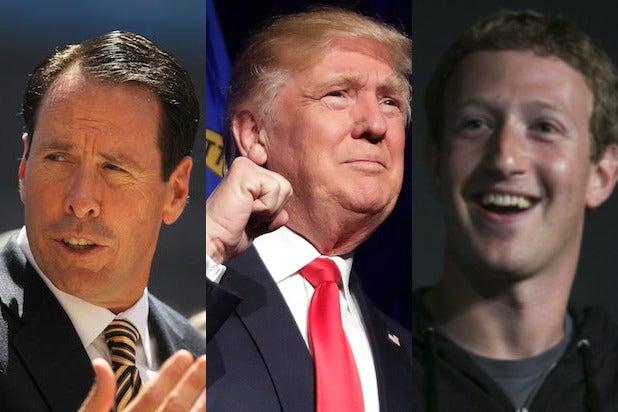 Randall Stephenson, Donald Trump, Mark Zuckerberg