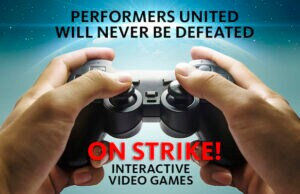video game actors strike social SAG Aftra screen actors