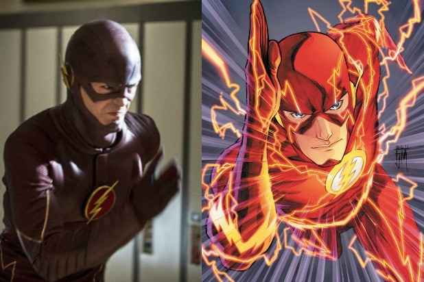 the flash show comics shot