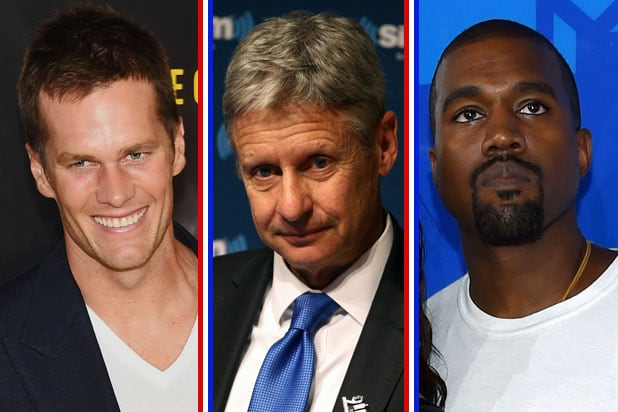 tom brady gary johnson kanye west