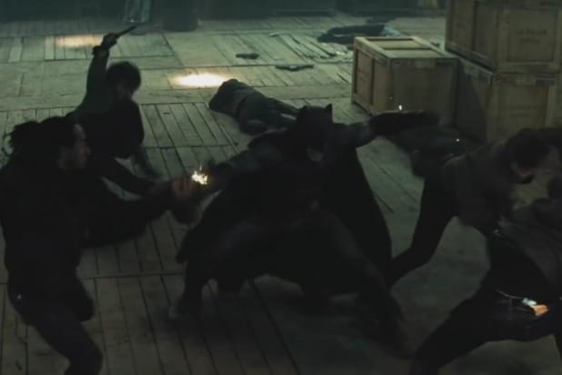 Batman v Superman warehouse fight