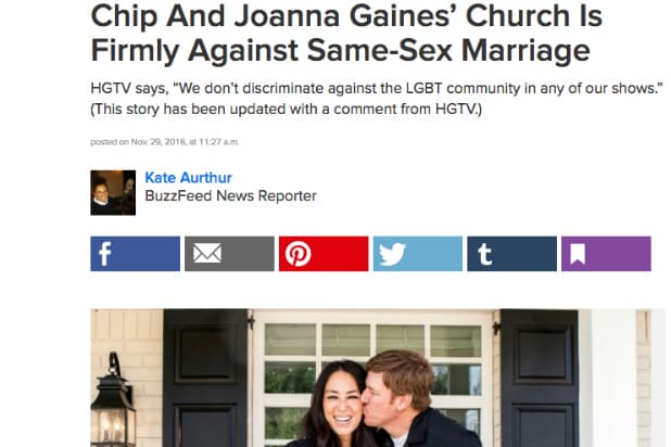 Buzzfeed story on Fixer Upper