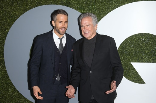 LOS ANGELES, CA - DECEMBER 08: Actors Ryan Reynolds and Warren Beatty attend the 2016 GQ Men of the Year Party at Chateau Marmont on December 8, 2016 in Los Angeles, California. (Photo by Jesse Grant/Getty Images)