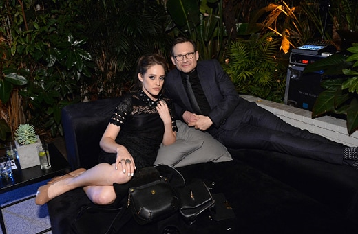 LOS ANGELES, CA - DECEMBER 08: Actors Carly Chaikin (L) and Christian Slater attend the 2016 GQ Men of the Year Party at Chateau Marmont on December 8, 2016 in Los Angeles, California. (Photo by Stefanie Keenan/Getty Images for GQ)