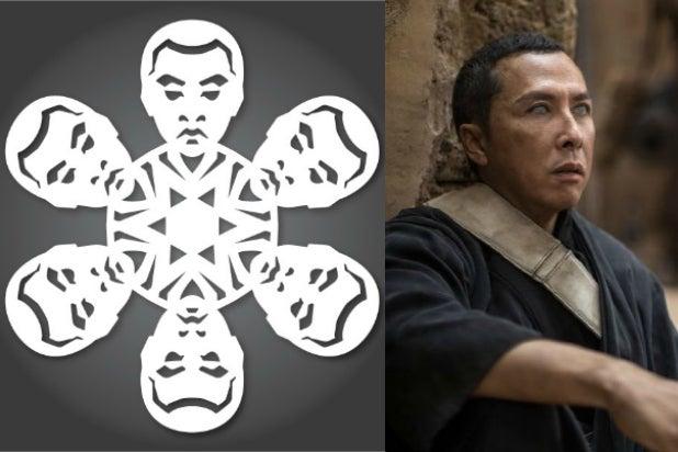 chirrut imwe captain rogue one star wars snowflakes