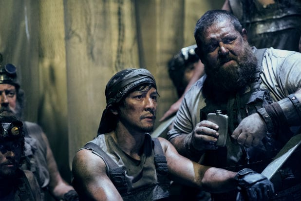 Daniel Wu Nick Frost into the badlands