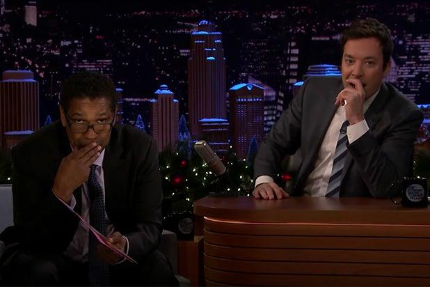 Denzel Washington Jimmy Fallon Greeting Cards