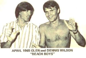 Campbell, right, with Beach Boy Dennis Wilson in 1965