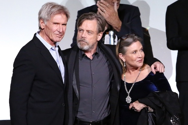 Harrison Ford Mark Hamill Carrie Fisher