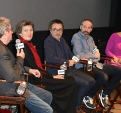Production Designer Jean Rabasse, Costume Designer Madeline Fontaine, Cinematographer Stephane Fontaine, Writer Noah Oppenheim and moderator Sharon Waxman