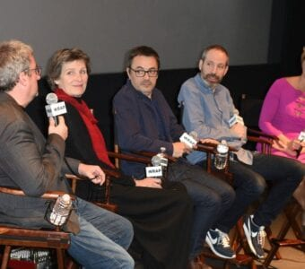 Production Designer Jean Rabasse, Costume Designer Madeline Fontaine, Cinematographer Stephane Fontaine, Writer Noah Oppenheim and moderator Sharon Waxman