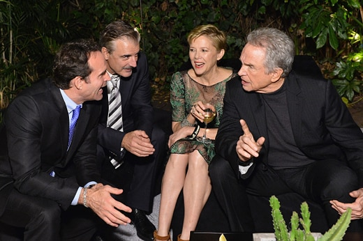 LOS ANGELES, CA - DECEMBER 08: (L-R) Actors Jason Patric, Chris Noth, Annette Bening, and Warren Beatty attend the 2016 GQ Men of the Year Party at Chateau Marmont on December 8, 2016 in Los Angeles, California. (Photo by Stefanie Keenan/Getty Images for GQ)