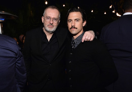 LOS ANGELES, CA - DECEMBER 08: GQ Creative Director Jim Moore (L) and actor Milo Ventimiglia attend the 2016 GQ Men of the Year Party at Chateau Marmont on December 8, 2016 in Los Angeles, California. (Photo by Stefanie Keenan/Getty Images for GQ)