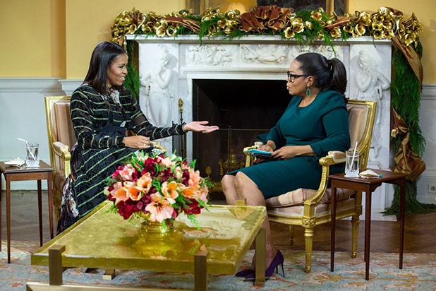 Michelle Obama Tells Oprah Winfrey She's 'Not Having Conversations' About Running for Office