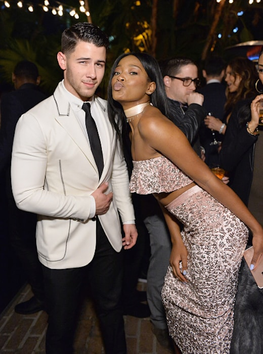 LOS ANGELES, CA - DECEMBER 08: Actor/singers Nick Jonas (L) and Keke Palmer attend the 2016 GQ Men of the Year Party at Chateau Marmont on December 8, 2016 in Los Angeles, California. (Photo by Stefanie Keenan/Getty Images for GQ)