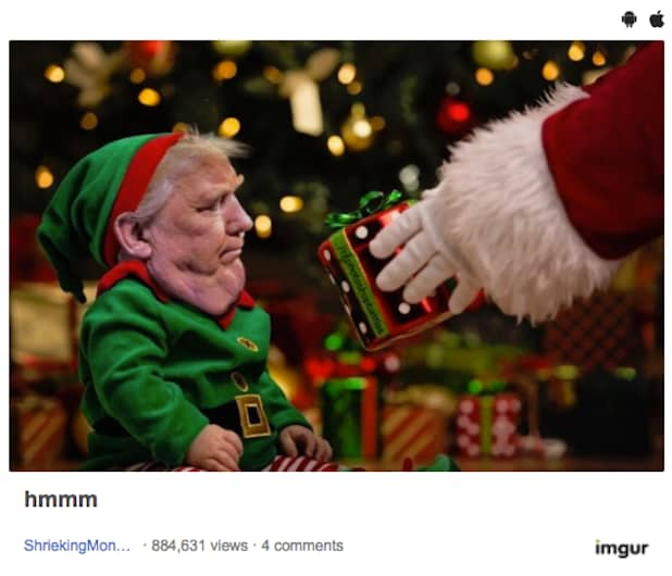 Screen Shot 2016 12 03 at 2.18.53 PM donald trump's chin mocked in hilarious internet memes (photos),Trump Christmas Meme