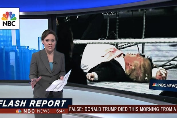 fake news story trump dead
