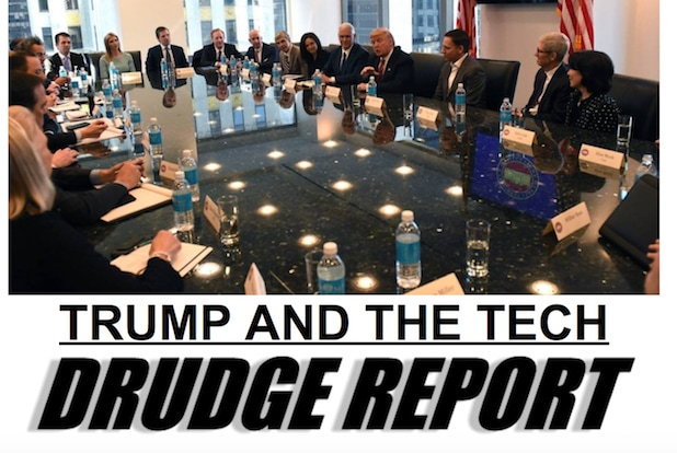 Drudge Trump tech meeting Natural Spring Water