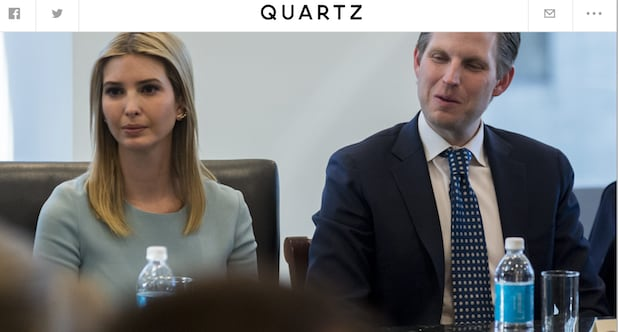 Trump bottle water Ivanka