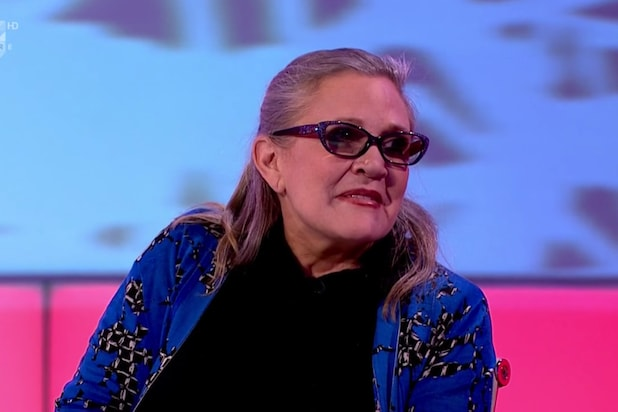 Watch Carrie Fishers Last Tv Appearance On A British Panel Show