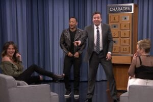 Chrissy teigen John legend jimmy fallon tonight show charades