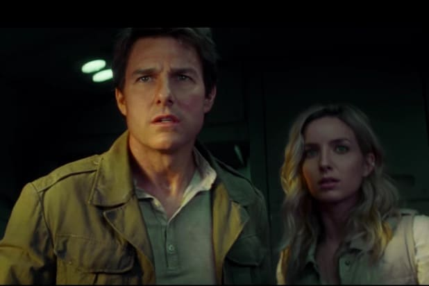 tom cruise anabelle wallis the mummy super bowl li trailer