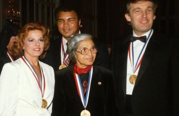 When Donald Trump Met Rosa Parks And Muhammad Ali Photo