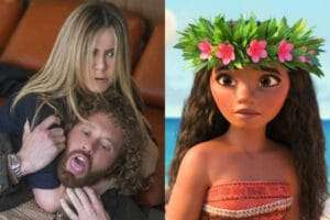 jennifer aniston office christmas party moana box office