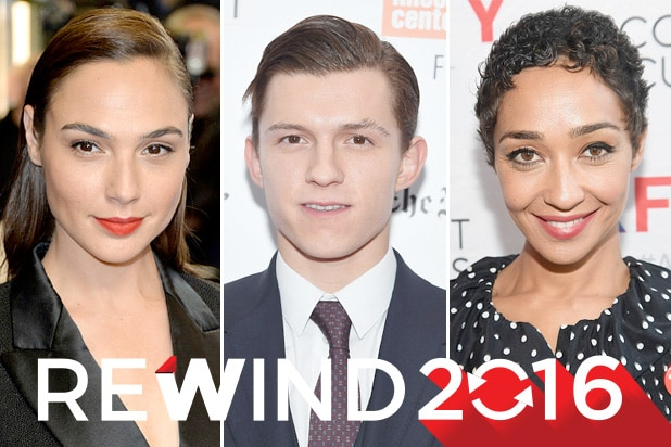 breakouts 2016 gal gadot, tom holland, ruth negga