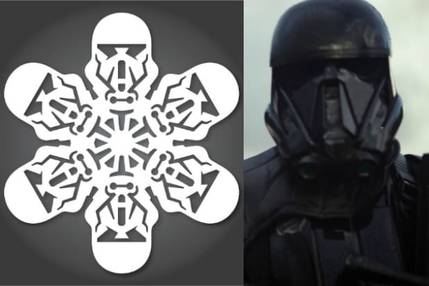 death trooper rogue one star wars snowflakes